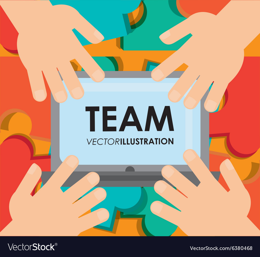 Teamwork icons design vector