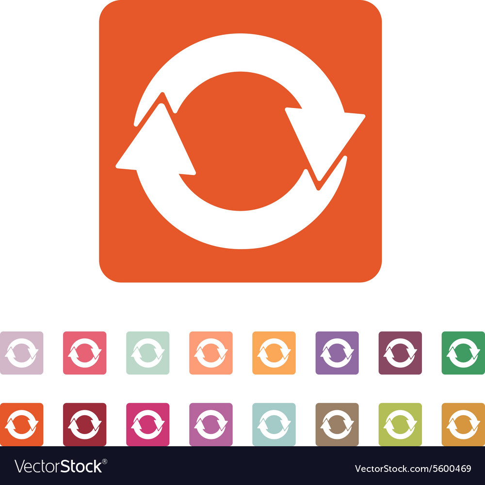 Recycling icon eco and ecological cycle vector