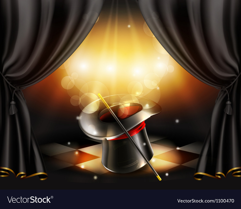 Magic tricks background vector