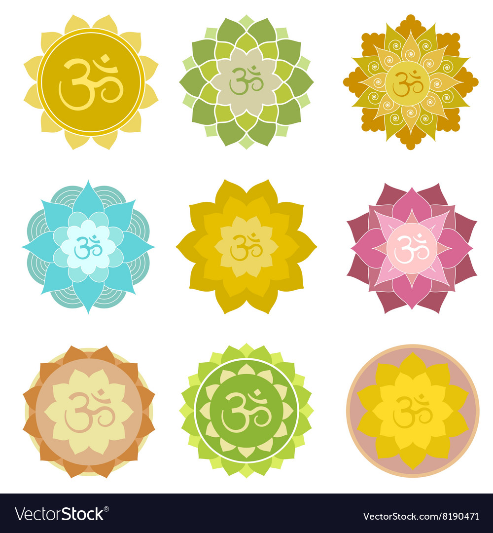 Om symbols isolated vector
