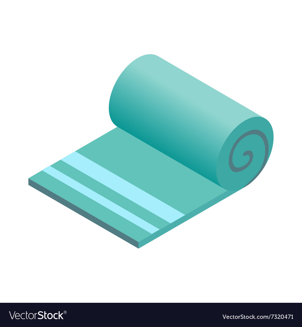 Towel isometric 3d icon vector