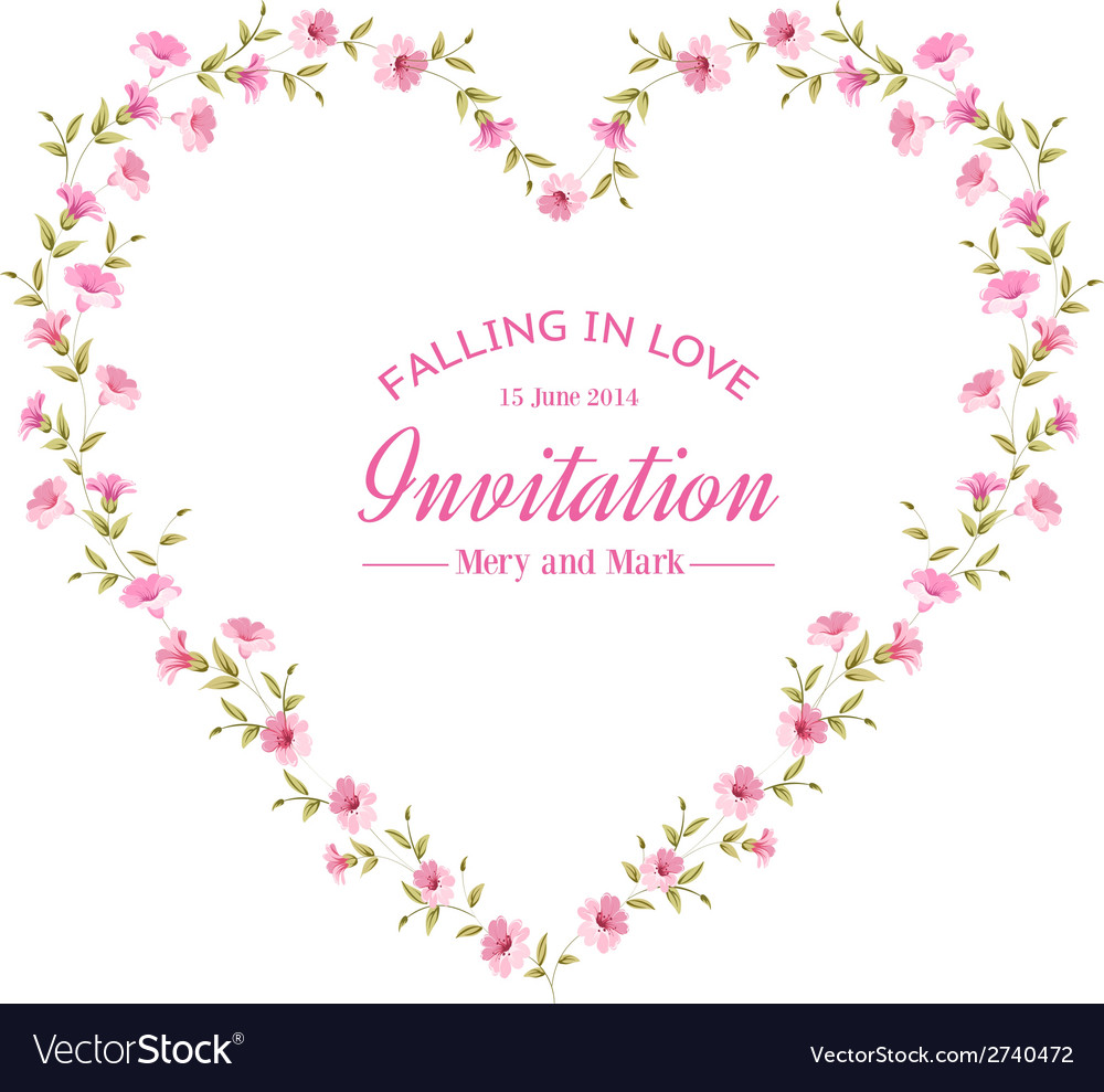 Heart frame vector