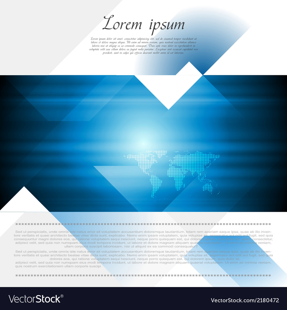 Hitech corporate flyer design vector