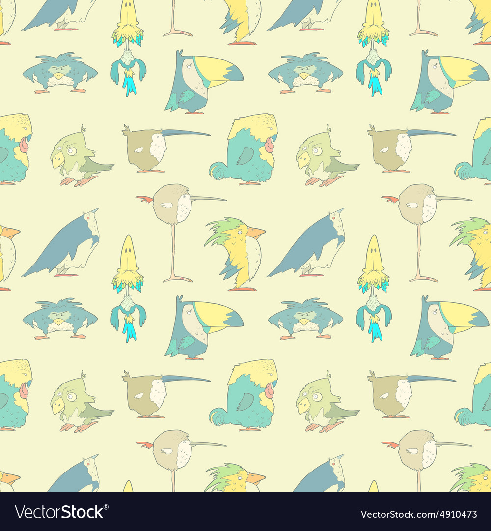 Birds seamless background pattern for design and vector
