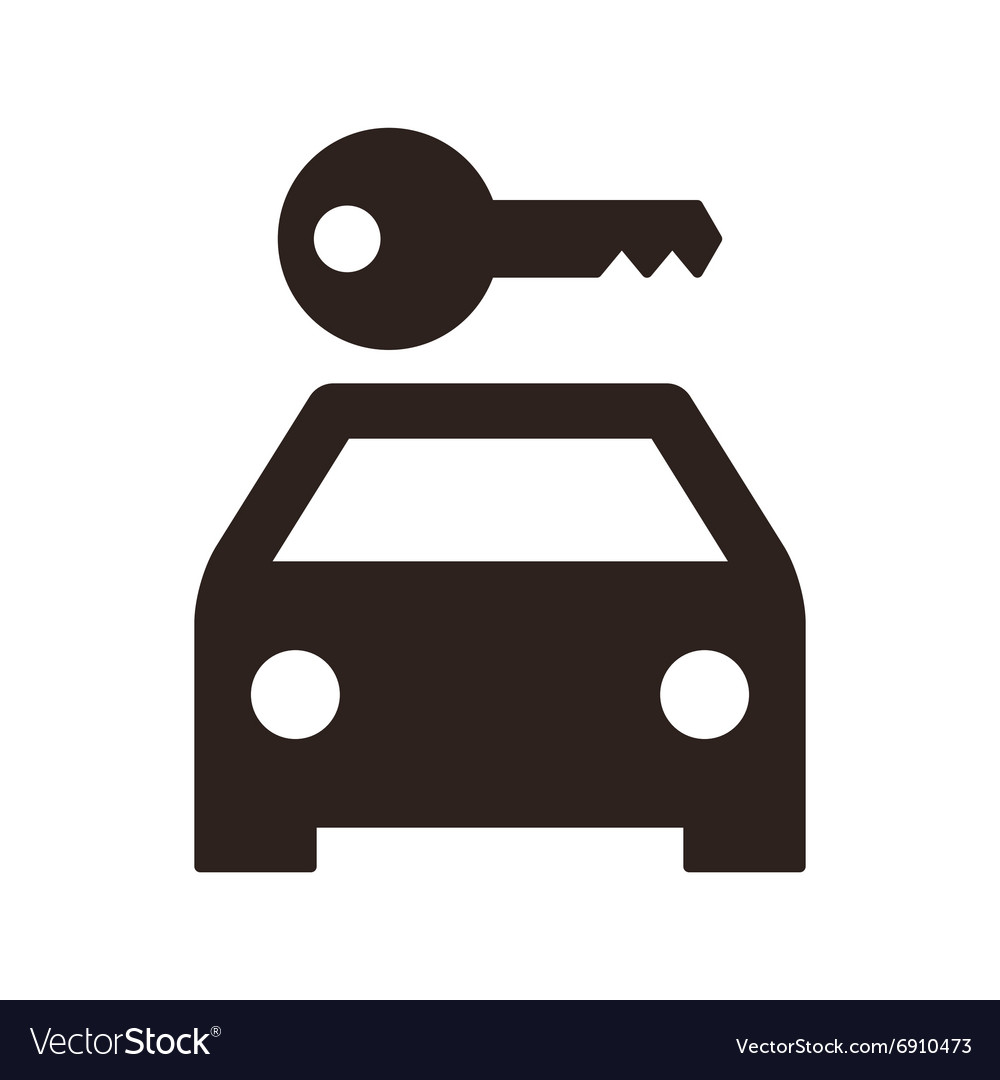 Rent a car sign vector