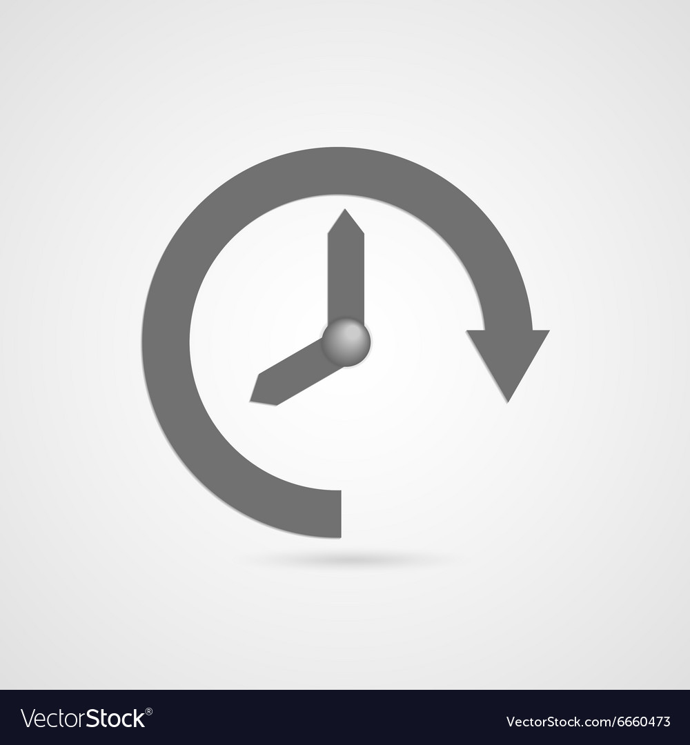 Time icon vector