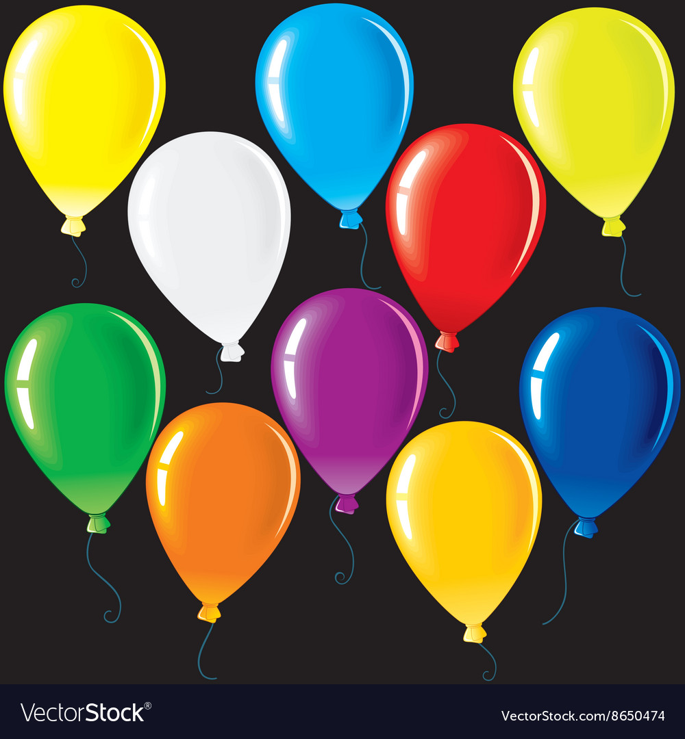 Isolated party balloons vector