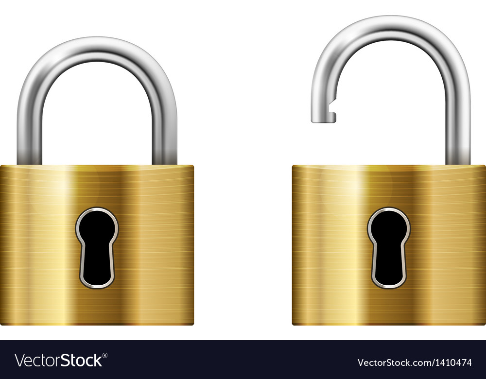 Padlock with keyhole vector