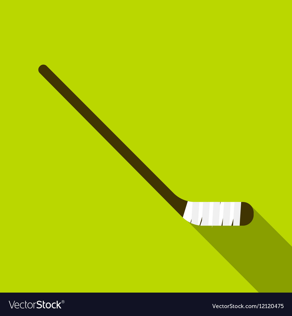 Hockey stick icon flat style vector