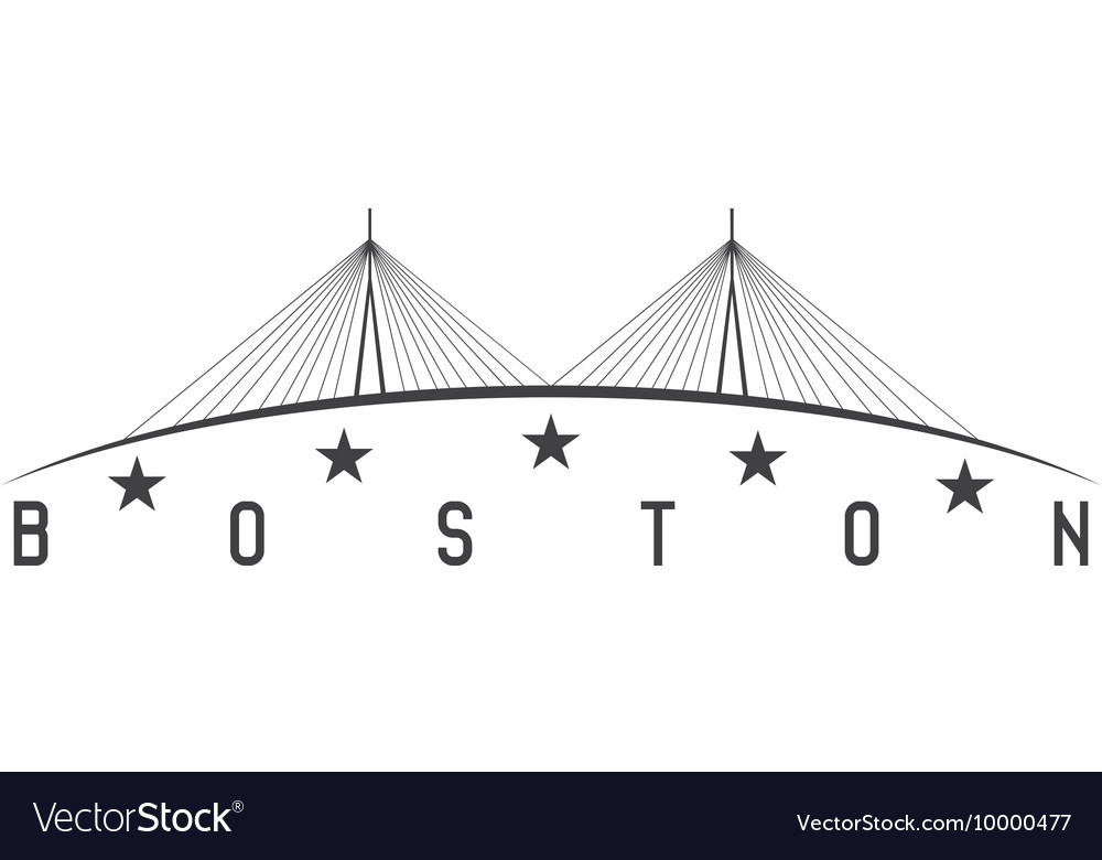 Leonard p zakim bunker hill memorial bridge vector
