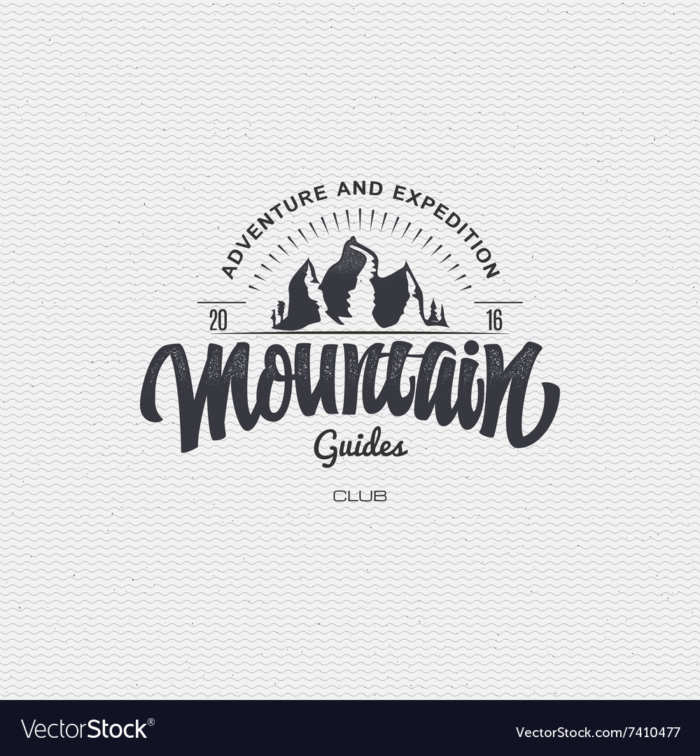 Mountain adventure and expedition insignia badges vector