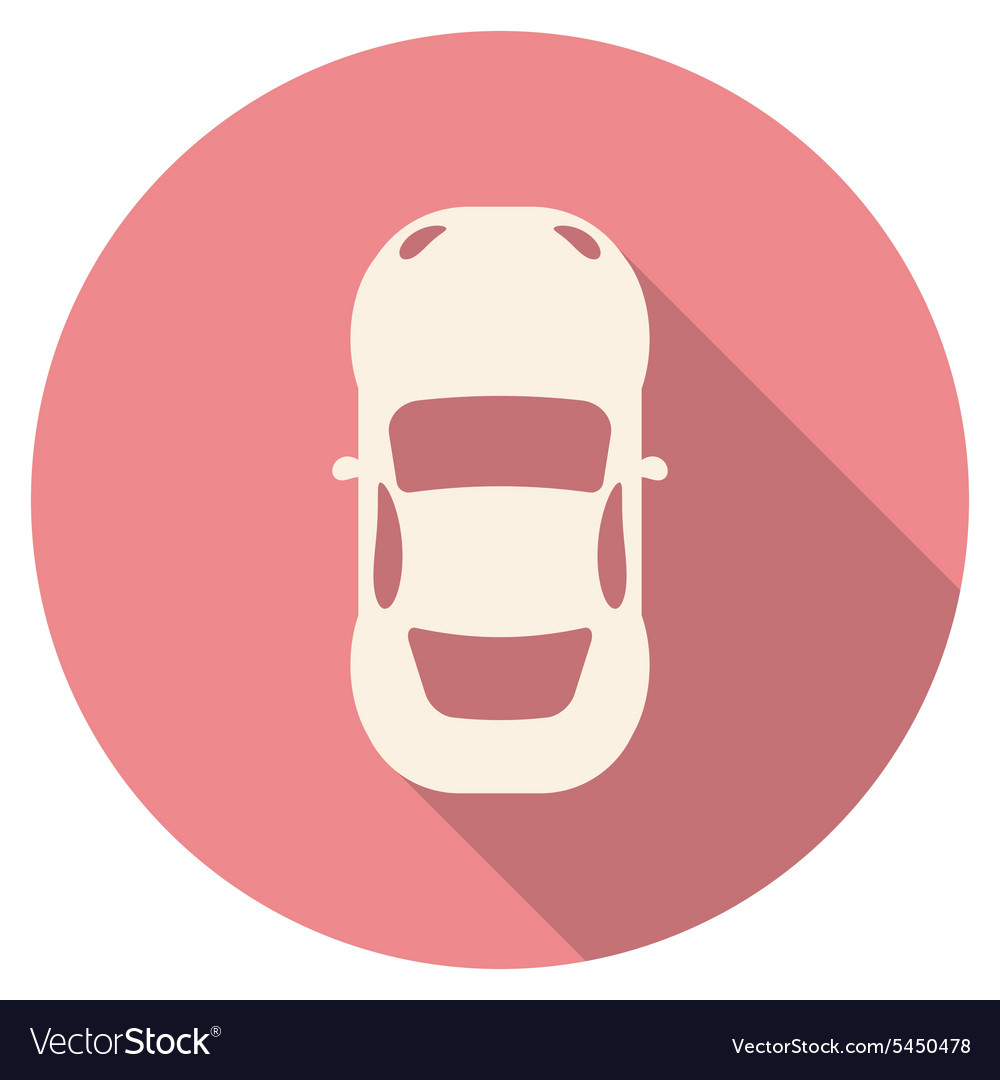 Flat design modern of car icon with long shadow vector