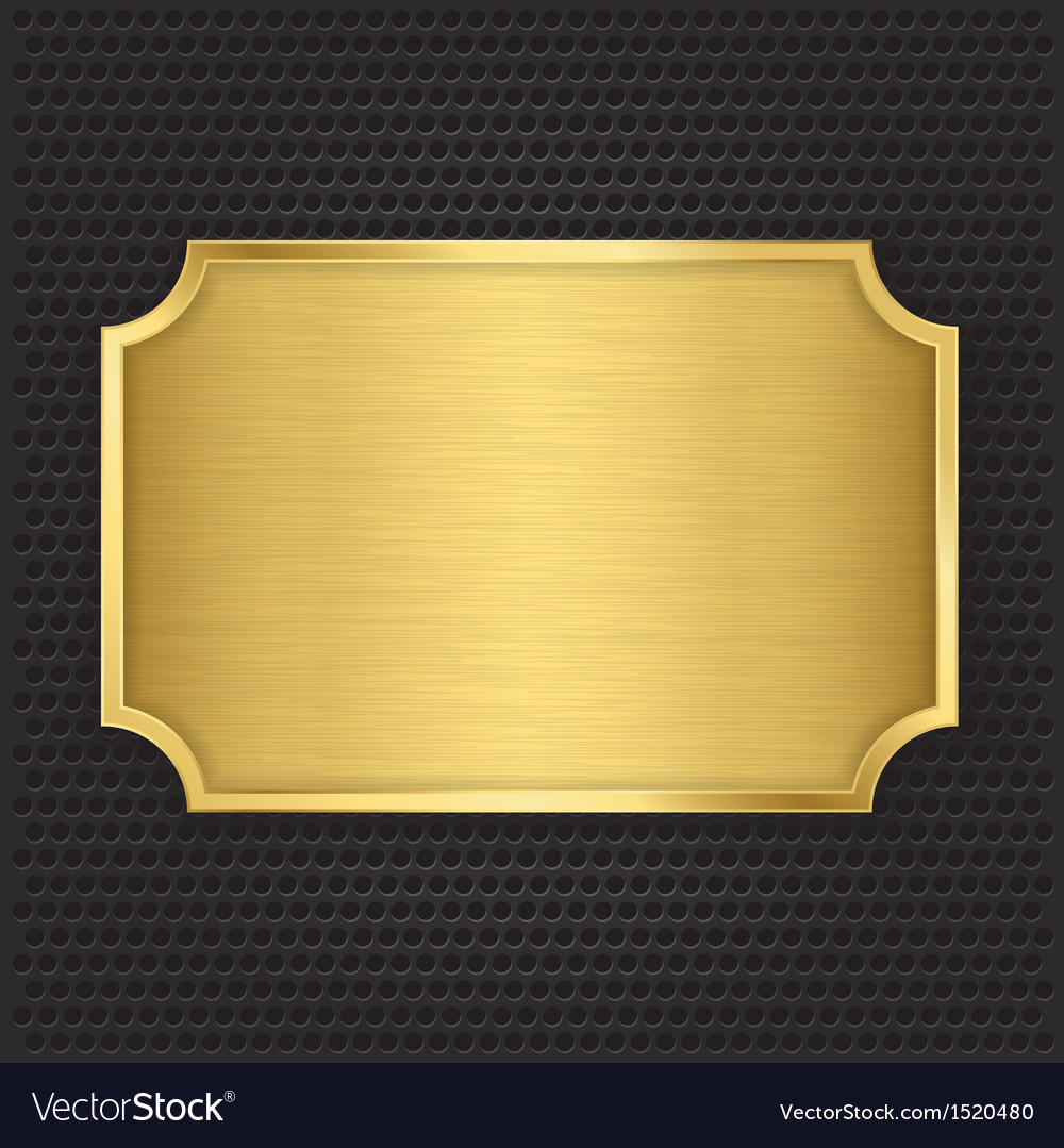Gold texture plate vector