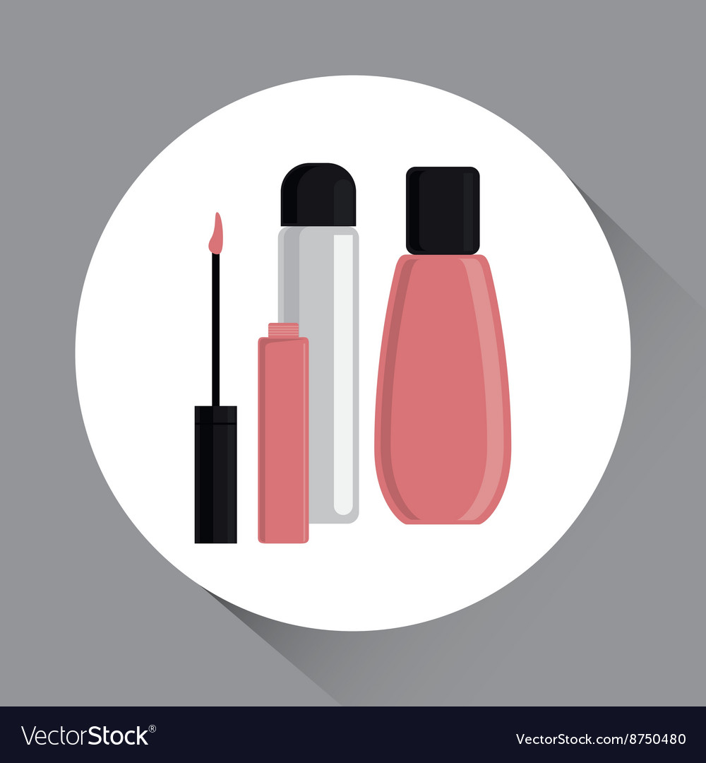 Make up design cosmetic icon skin care concept vector