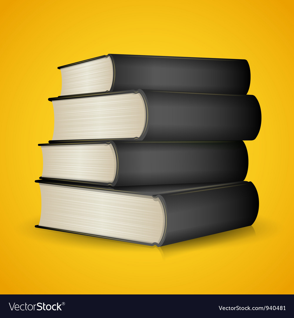 Black books vector