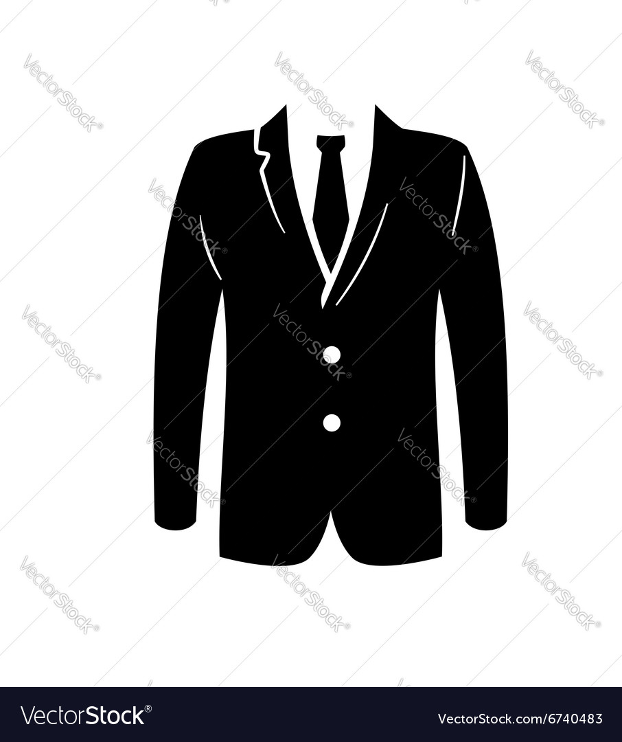 Black suit icon vector