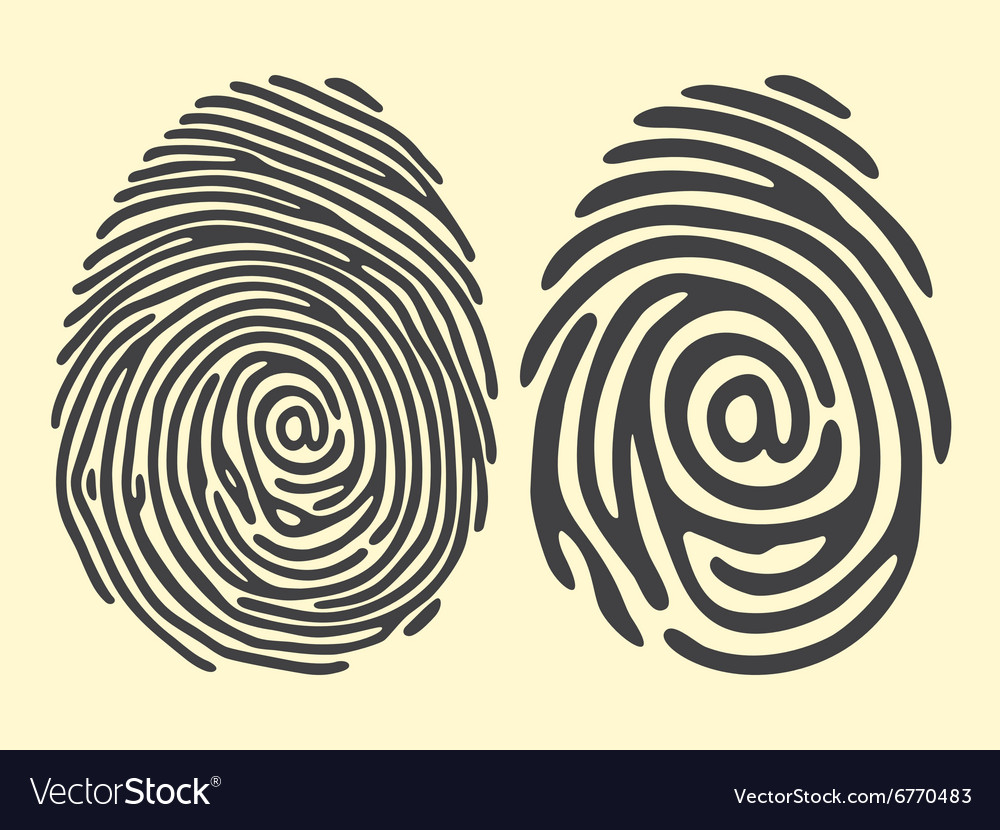 Finger print email vector