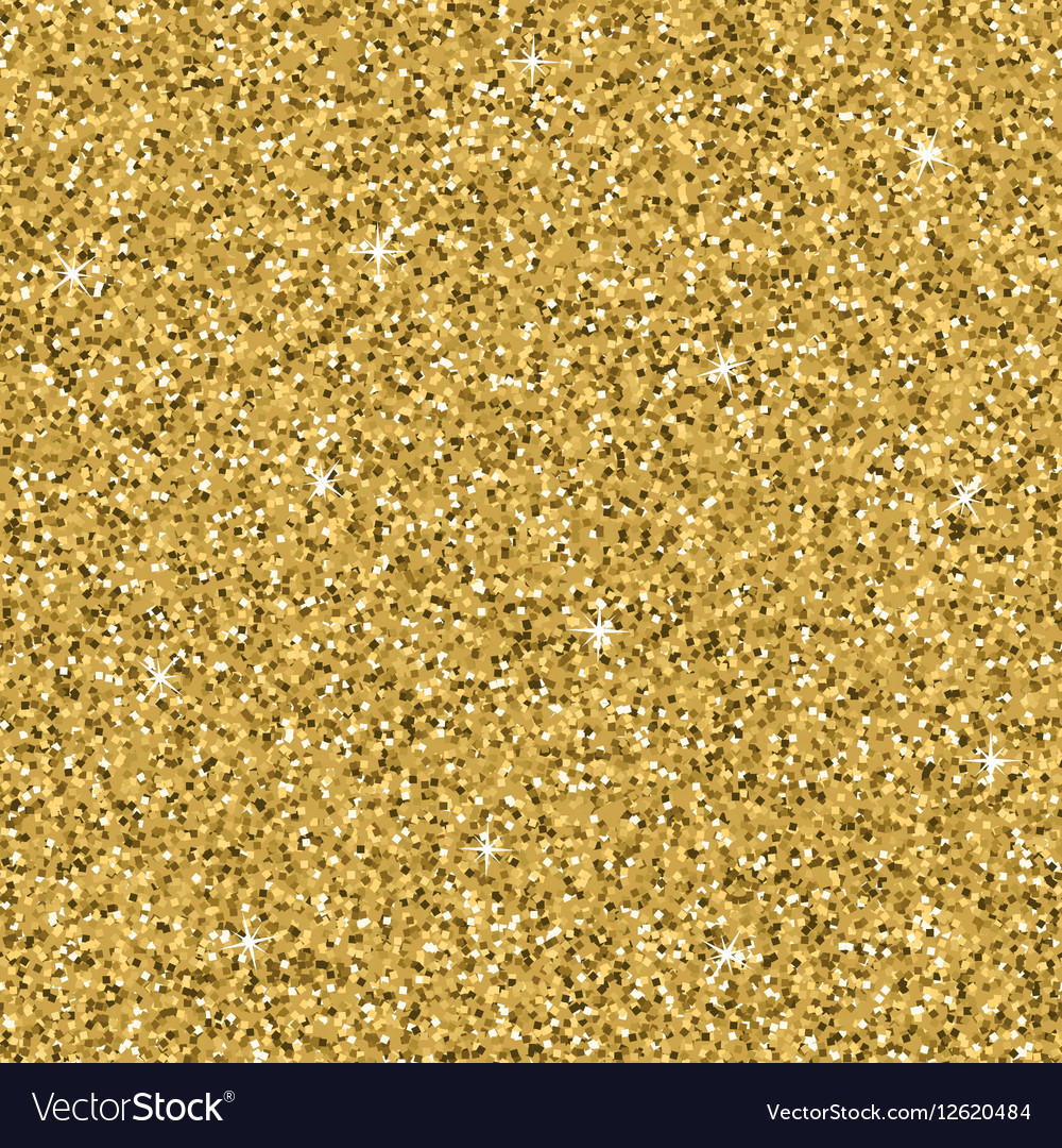 Seamless yellow gold glitter texture shimmer vector