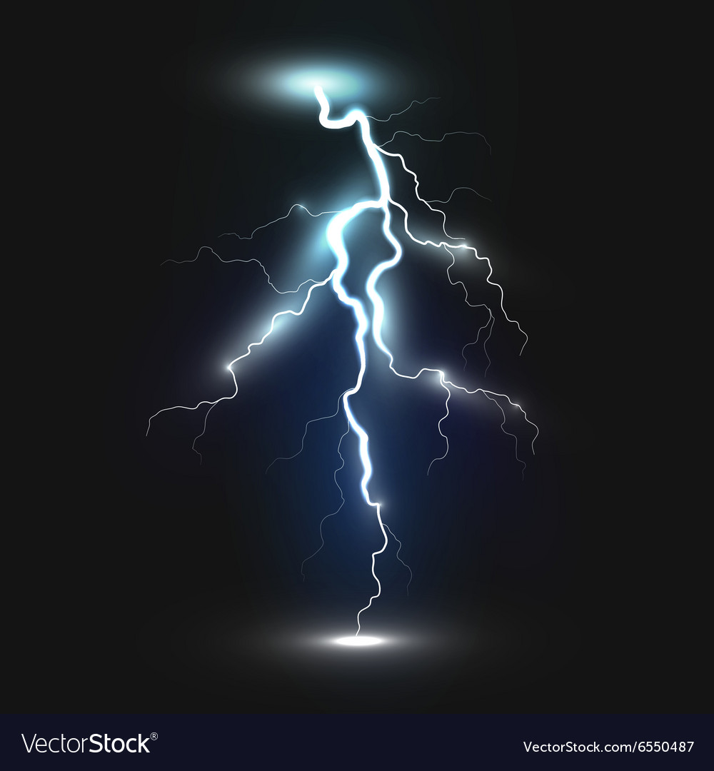 New realistic lightning icon vector