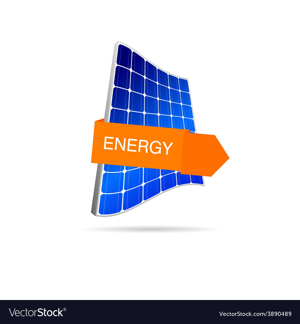 Energy solar panel color vector