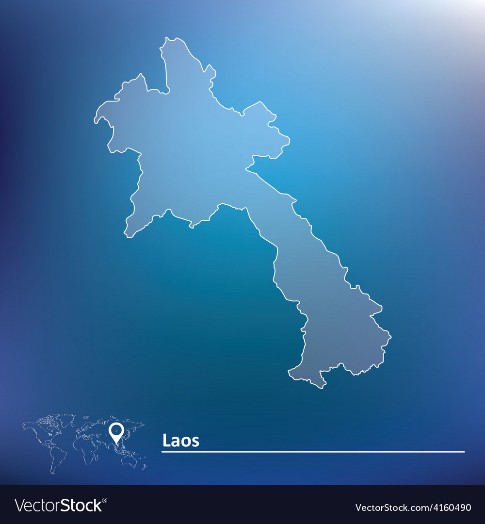 Map of laos vector