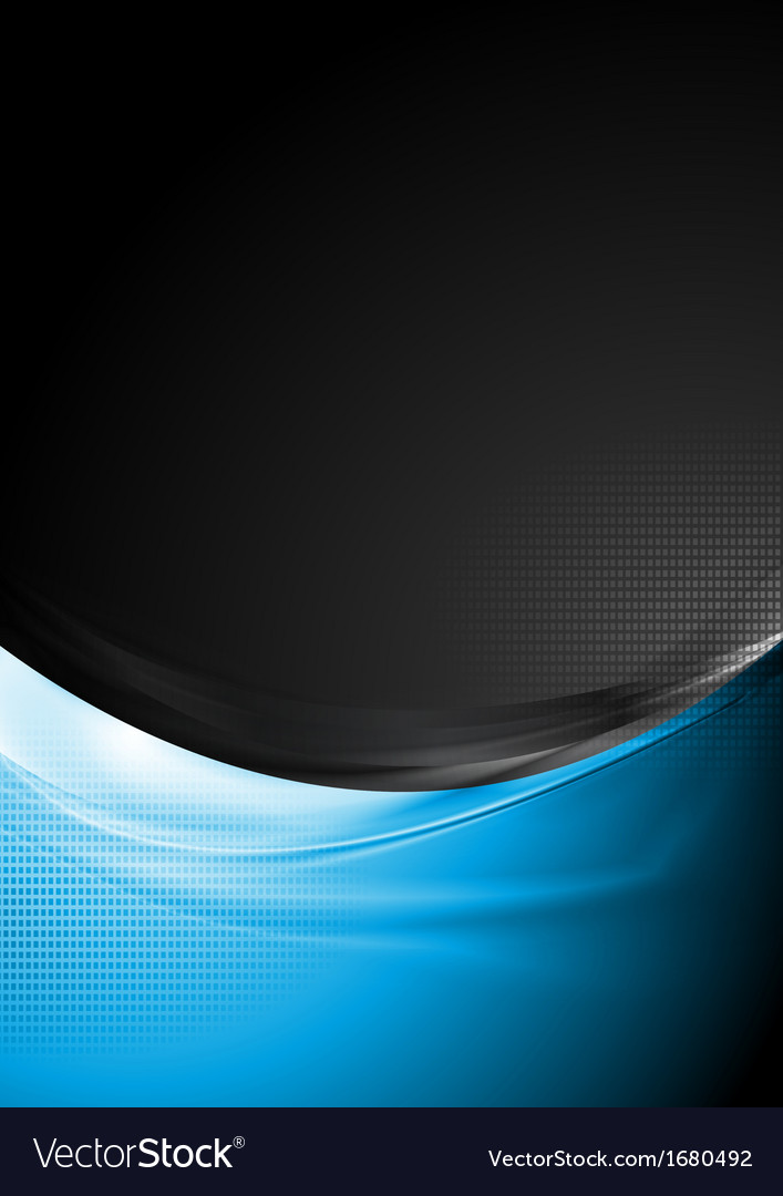 Bright waves tech background vector