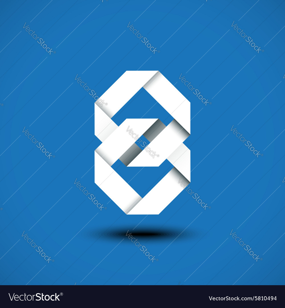Abstract unity symbol of two square vector
