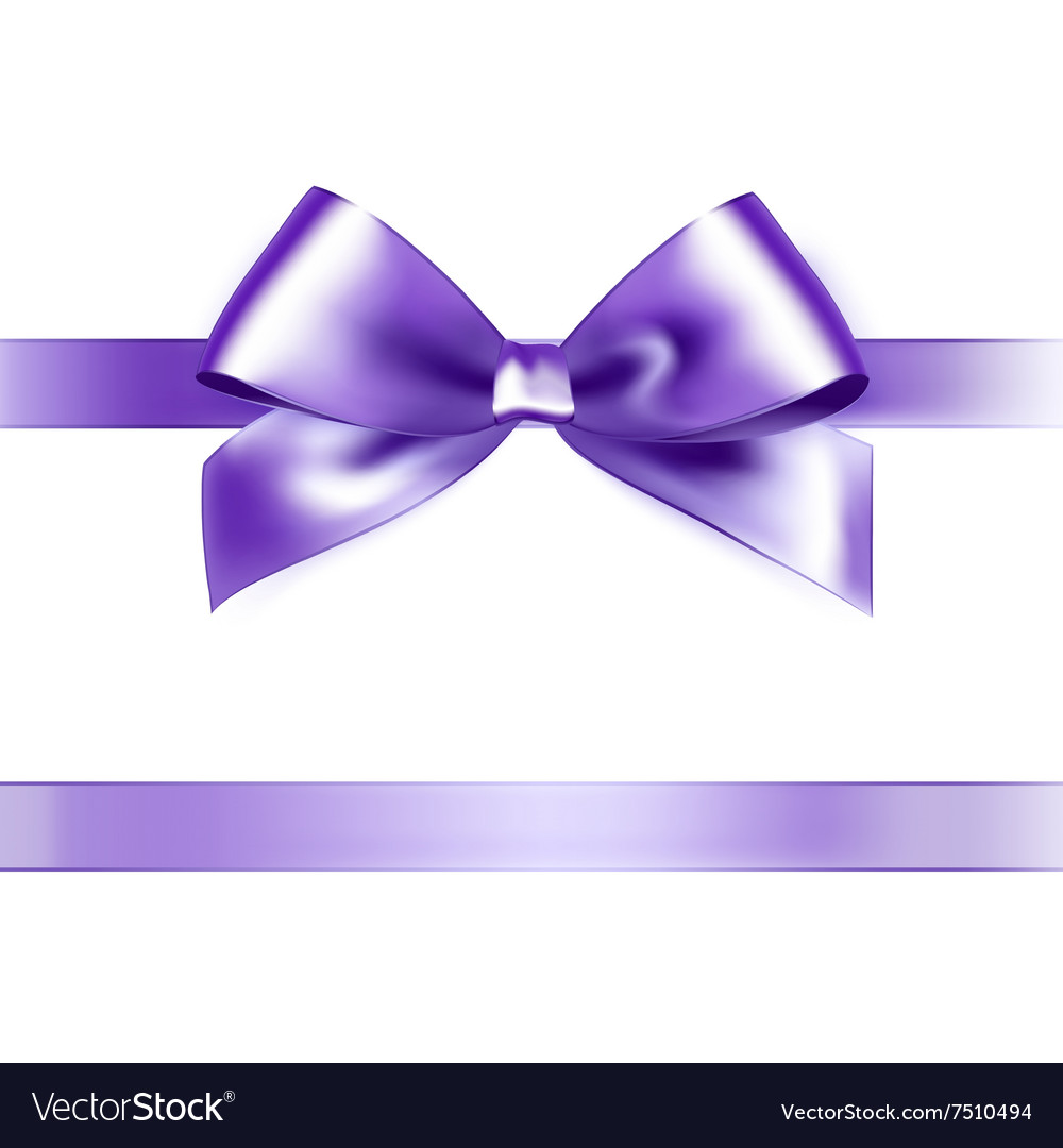 Shiny purple satin ribbon on white background vector