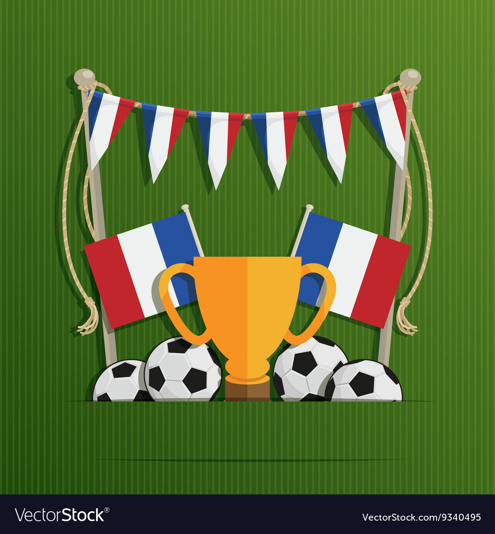 France football decoration vector