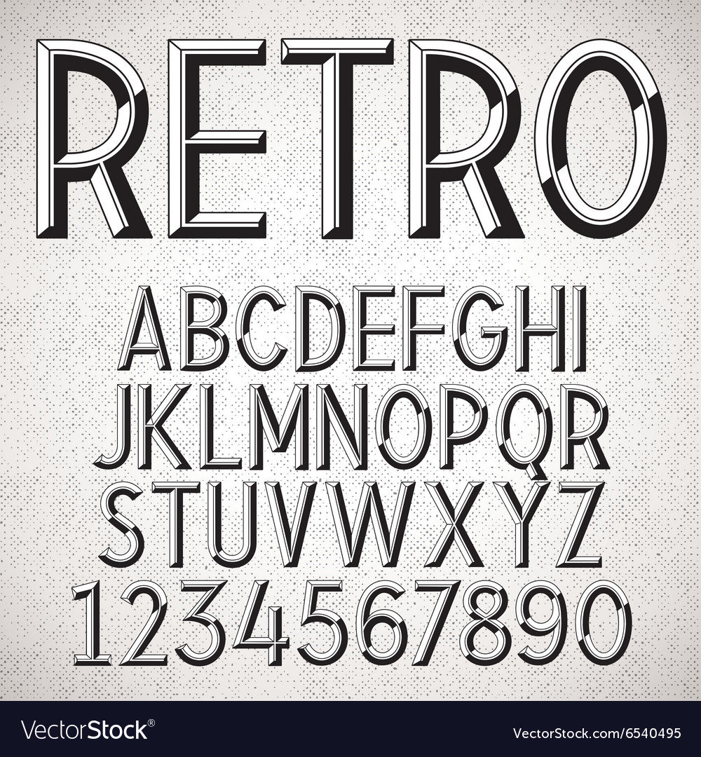 Metal embossed font vector