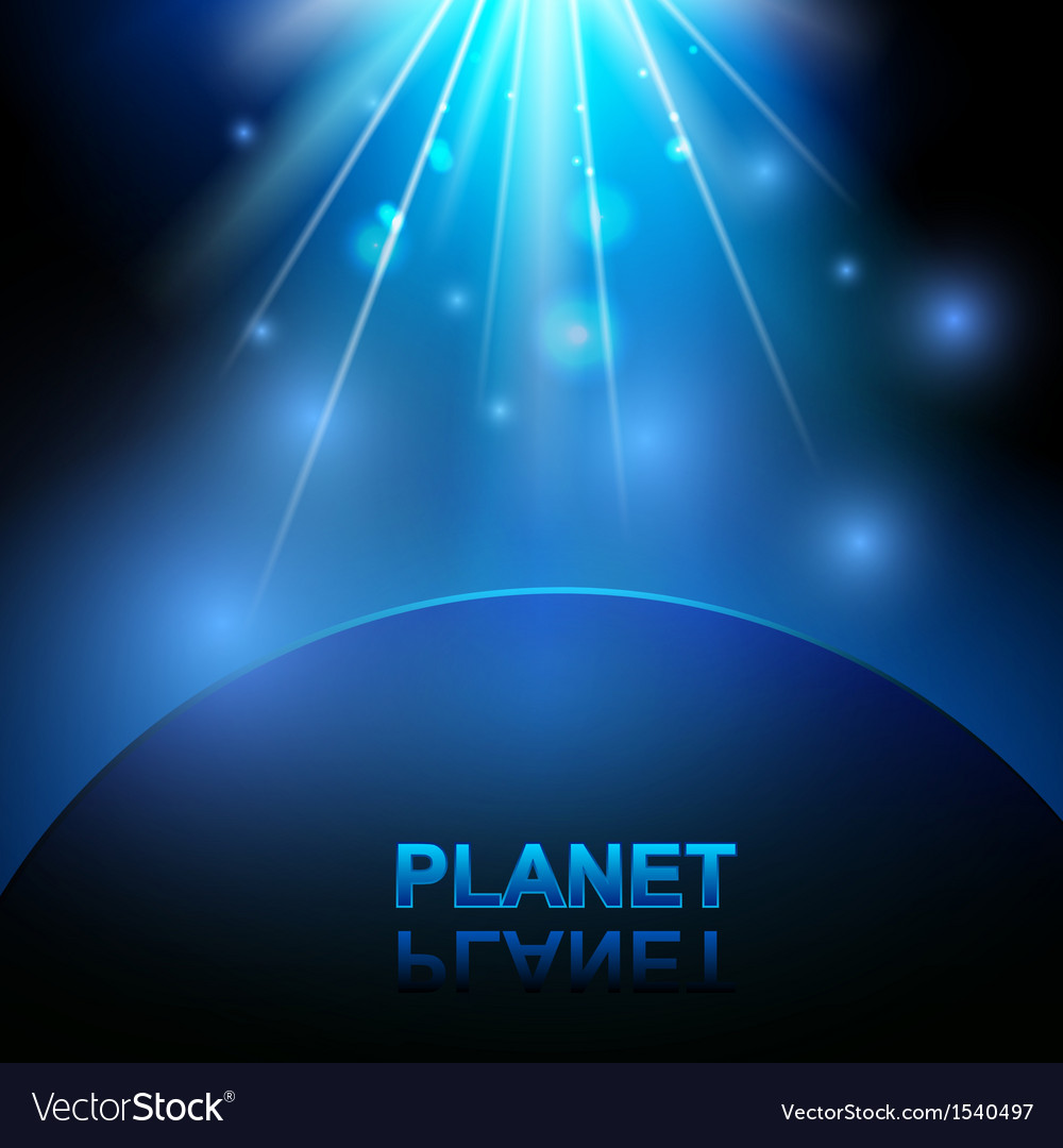 Abstract background with space and planet vector