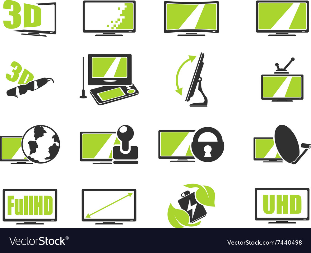 Tv features and specifications vector