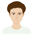 Man with happy face vector image