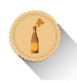 bottle beer drink alcohol label shadow vector image