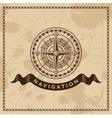 Wind Rose - Nautical compass design element vector image