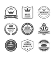 Crown labels icon set vector image