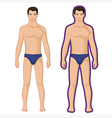 Fashion man full length outlined couple vector image vector image