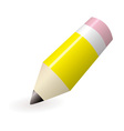 yellow lead pencil vector image vector image