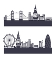 Silhouette Background of Abstract London Skyline vector image