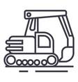 big excavator line icon sign vector image