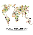 Nutrition food for healthy life world health day vector image