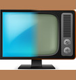 old television on white for design vector image