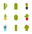 succulent icon set flat style vector image