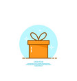 trendy icon giftbox with ribbons vector image