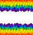 triangular background strip vector image