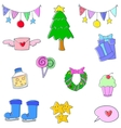 Object christmas doodles vector image