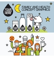 Family Healthy Infographic With Character Sheep vector image
