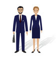 business people male and female office employees vector image