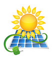 electricity from solar panels vector image