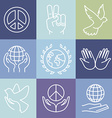 line peace signs and logos vector image